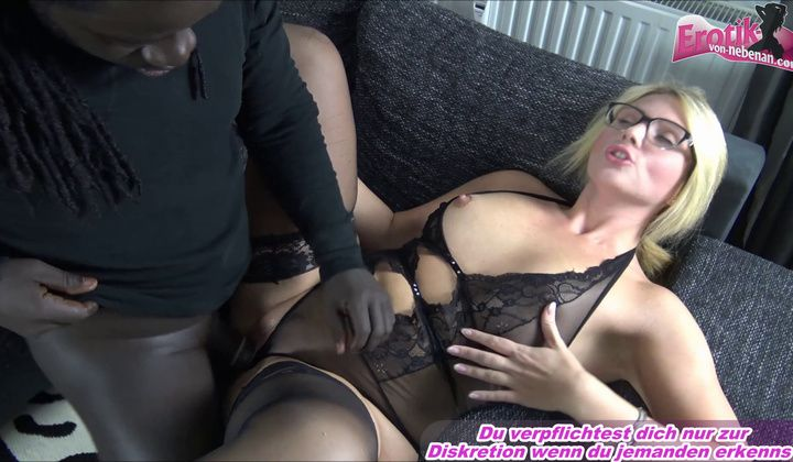French Blond Teacher Milf With Glasses Fuck With Bbc